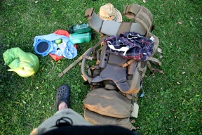 20+kg worth of gear and food.