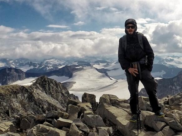 Torrentshell on top of Galdhøpiggen