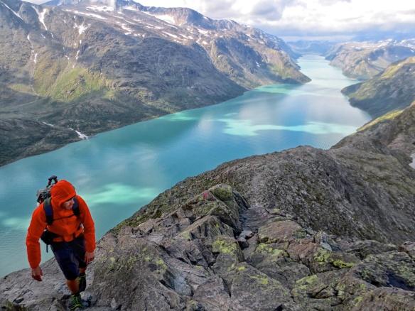Climbing Besseggen