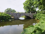Bridge over calm waters.