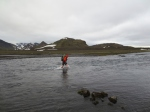 Crossing the river into Katla Geopark. Quite deep and fast moving